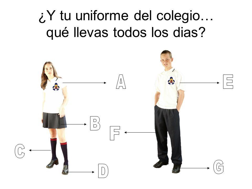 ¿Y tu uniforme del colegio… qué llevas todos los dias?