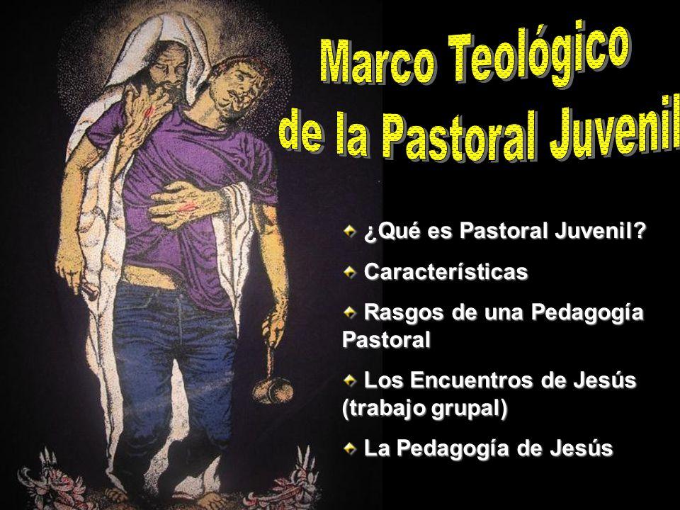 ¿Qué es Pastoral Juvenil? ¿Qué es Pastoral Juvenil? Características Características Rasgos de una Pedagogía Pastoral Rasgos de una Pedagogía Pastoral
