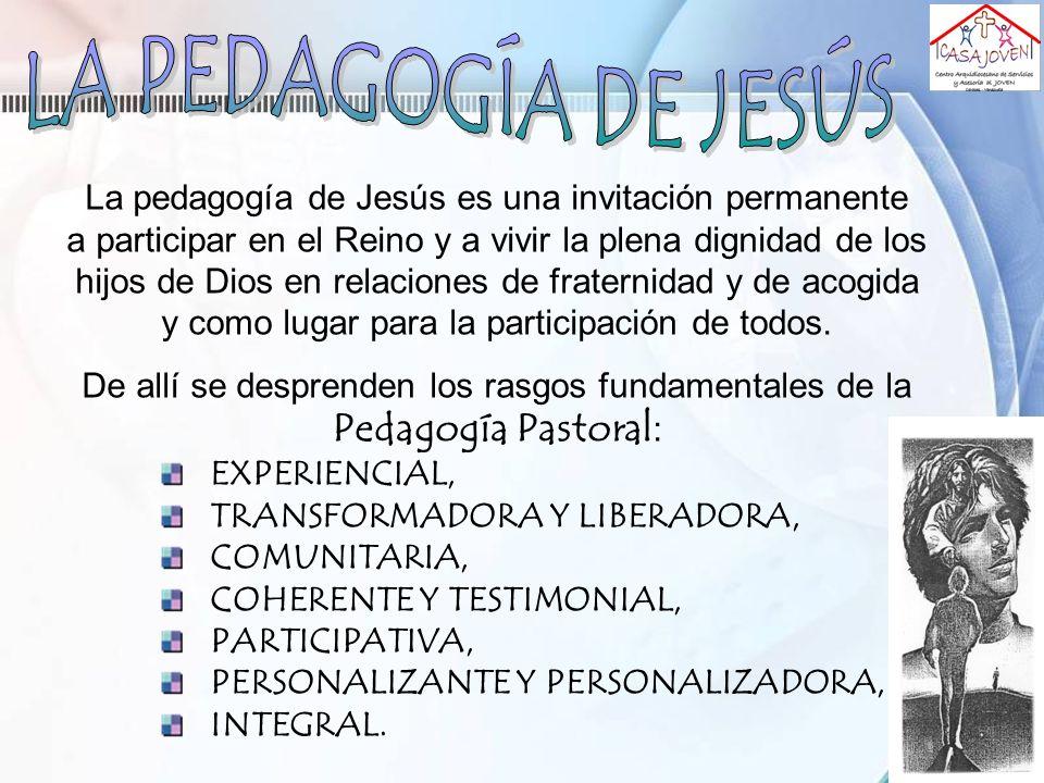La pedagogía de Jesús es una invitación permanente a participar en el Reino y a vivir la plena dignidad de los hijos de Dios en relaciones de fraterni