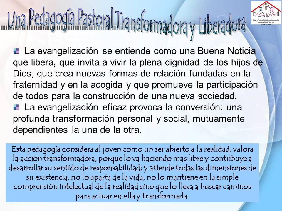 La relación pedagógica pasa, pues, por la comunidad eclesial.
