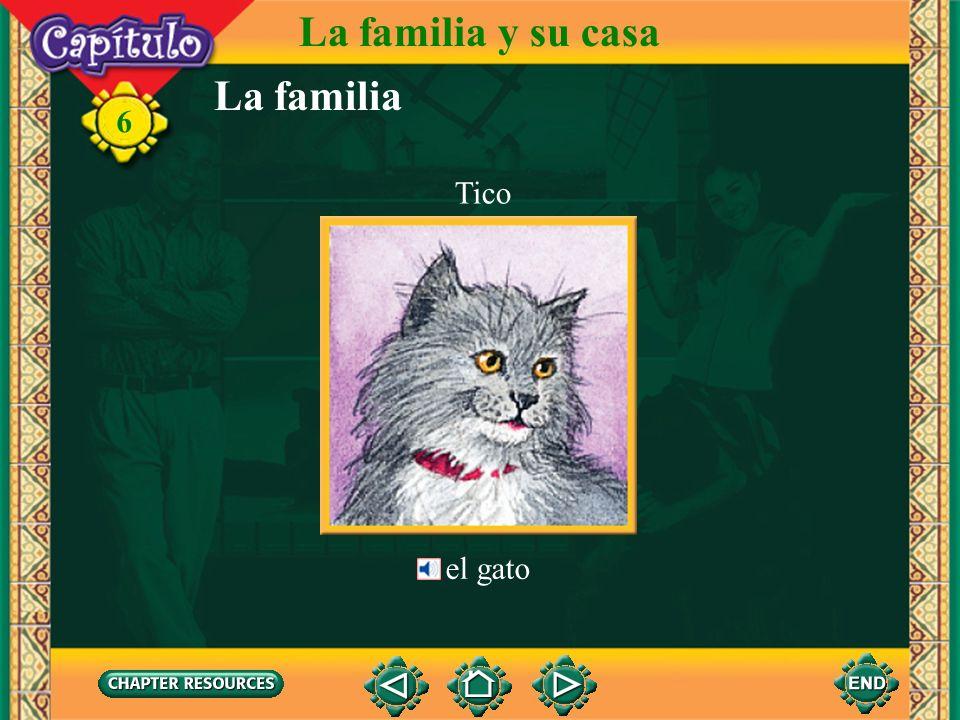 La familia La familia y su casa 6 el hijo los hijos la hija MarcosLourdes el hermano el nieto la hermana la nieta