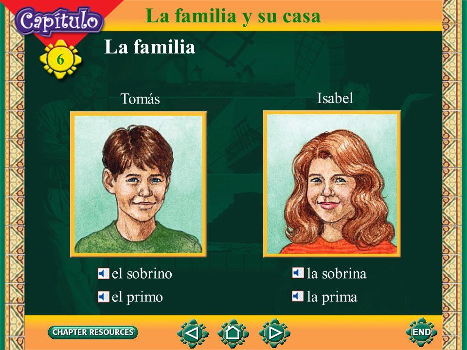 La familia La familia y su casa 6 el tío los tíos la tía Sr. GuerreroSra. Guerrero