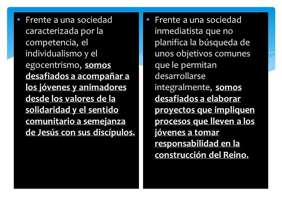 BLOQUES ASESORES IDENTIDAD GRUPO ESPIRITUALIDAD DOCTRINA SOCIAL DE LA IGLESIA FORMACIÓN TECNICA/CARTILLAS LIDERES PERSONALIZACIÓN INTEGRACIÓN EVANGELIZACIÓN CONCIENTIZACIÓN CAPACITACIÓN TECNICA