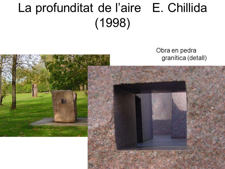 La profunditat de laire E. Chillida (1998) Obra en pedra granítica (detall)