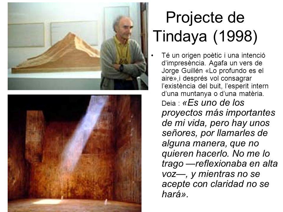Projecte de Tindaya (1998) Té un origen poètic i una intenció dimpresència.