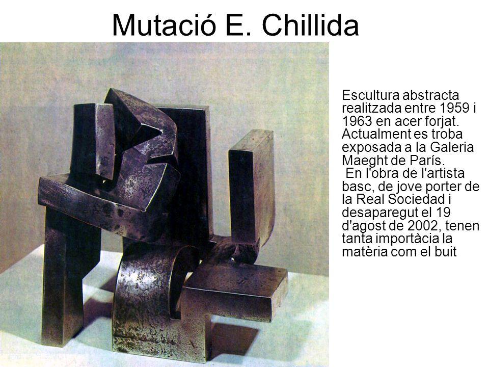 Mutació E. Chillida Escultura abstracta realitzada entre 1959 i 1963 en acer forjat.