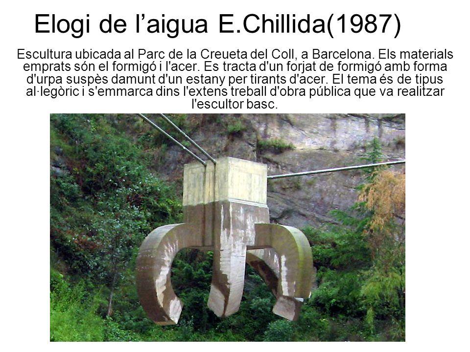 Elogi de laigua E.Chillida(1987) Escultura ubicada al Parc de la Creueta del Coll, a Barcelona.