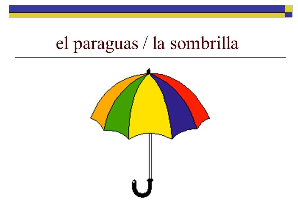 el paraguas / la sombrilla