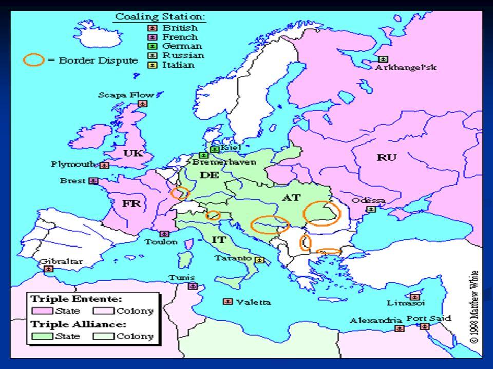 ESTALLA LA GUERRA El asesinato del Archiduque hizo que se pusiera en marcha el complejo sistema de alianzas y la guerra fuese tomando carácter global 28 junioAtentado de Sarajevo 23 julioTras asegurarse el apoyo alemán, Austria-Hungría lanza un ultimátum a Serbia 28 julioAustria-Hungría declara la guerra a Serbia 30 julioRusia inicia la movilización general 1 agostoAlemania declara la guerra a Rusia.