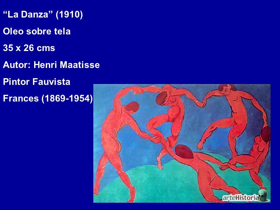 La Danza (1910) Oleo sobre tela 35 x 26 cms Autor: Henri Maatisse Pintor Fauvista Frances (1869-1954)