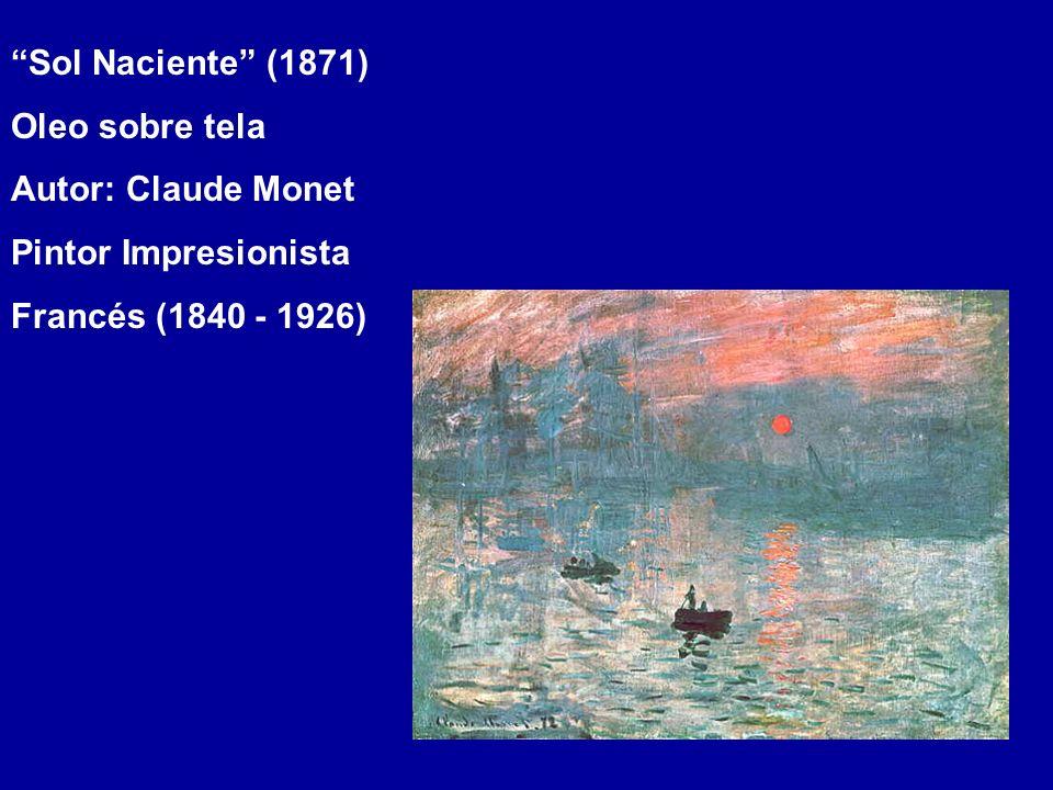 Sol Naciente (1871) Oleo sobre tela Autor: Claude Monet Pintor Impresionista Francés (1840 - 1926)