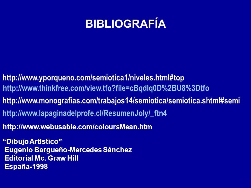 BIBLIOGRAFÍA http://www.thinkfree.com/view.tfo?file=cBqdIq0D%2BU8%3Dtfo http://www.yporqueno.com/semiotica1/niveles.html#top http://www.monografias.co