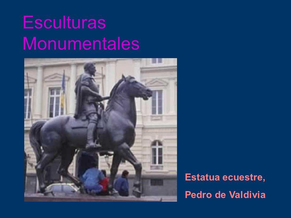 Esculturas Monumentales Estatua ecuestre, Pedro de Valdivia