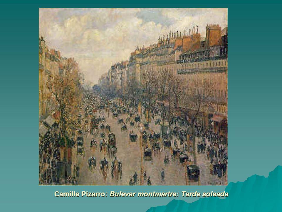 Camille Pizarro: Bulevar montmartre: Tarde soleada