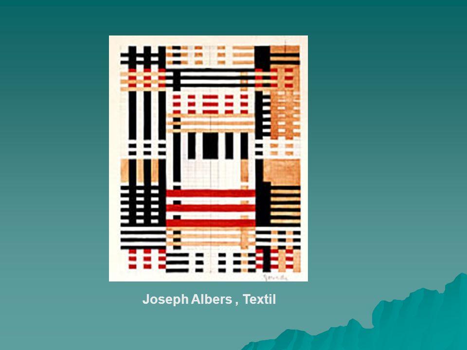 Joseph Albers, Textil