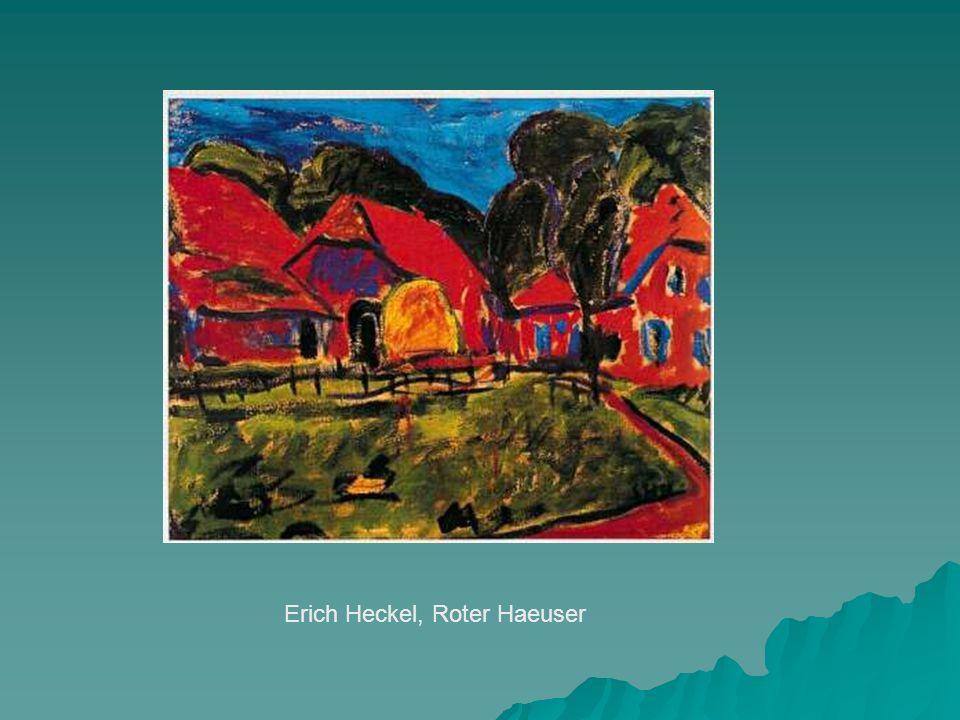 Erich Heckel, Roter Haeuser