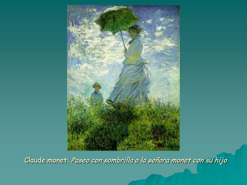 Claude monet: Paseo con sombrilla o la señora monet con su hijo