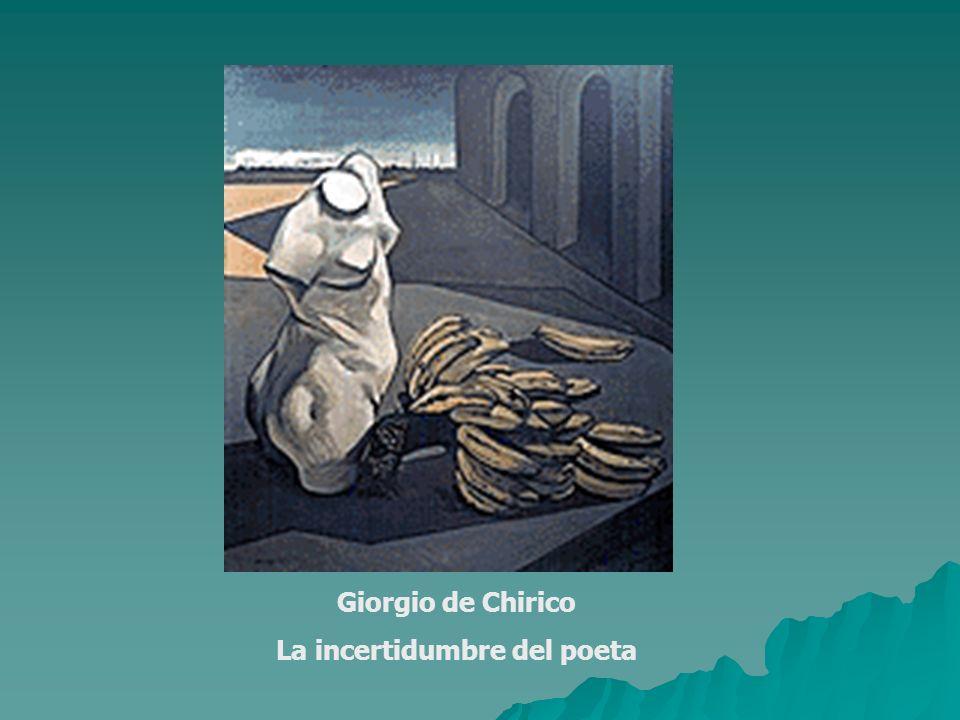 Giorgio de Chirico La incertidumbre del poeta