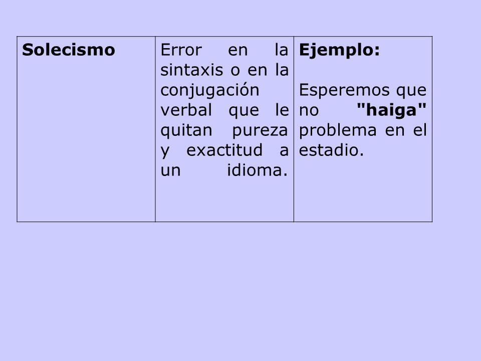 MuletillaHábito de repetir sistemática e inconsciente- mente una palabra, frase u oración. Ejemplo: