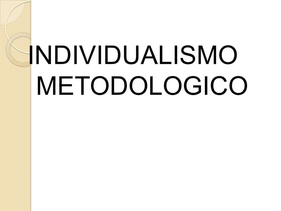 INDIVIDUALISMO METODOLOGICO