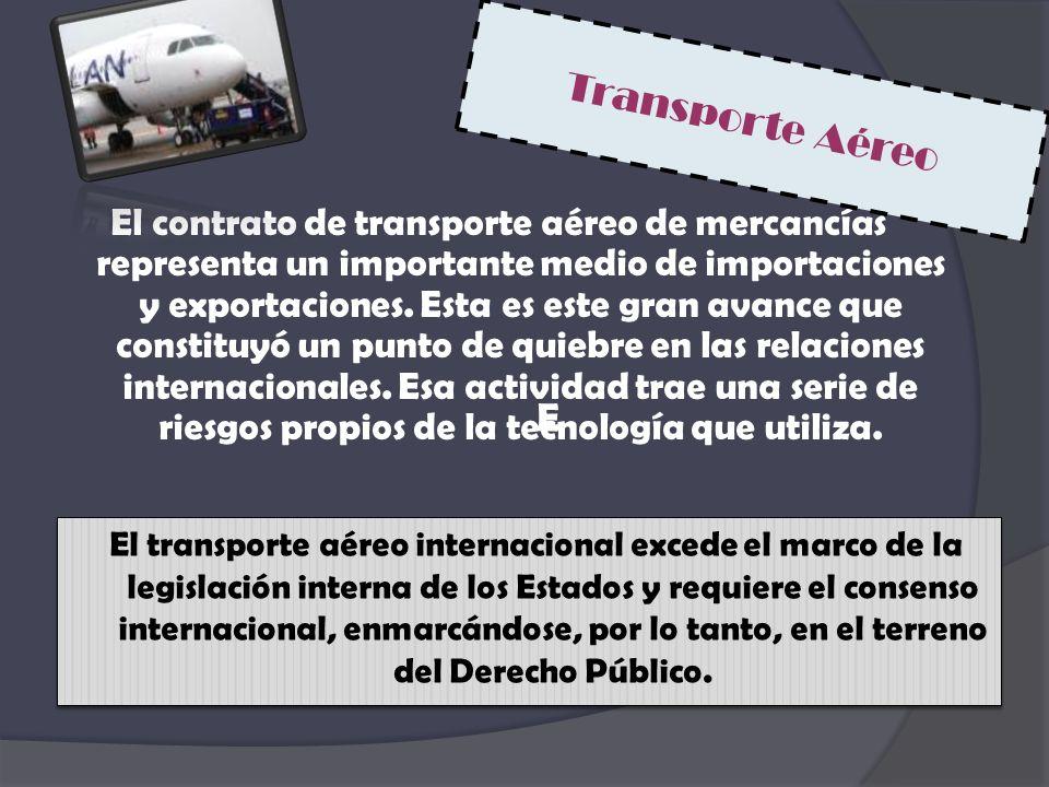 El contrato de transporte aéreo de mercancías representa un importante medio de importaciones y exportaciones. Esta es este gran avance que constituyó