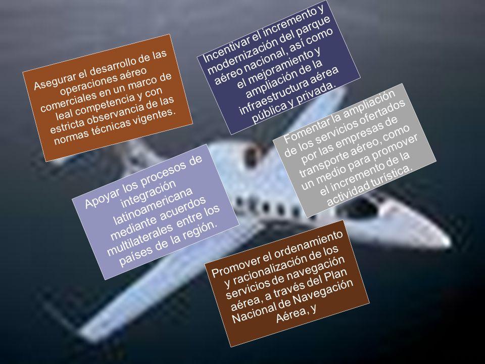 Asegurar el desarrollo de las operaciones aéreo comerciales en un marco de leal competencia y con estricta observancia de las normas técnicas vigentes