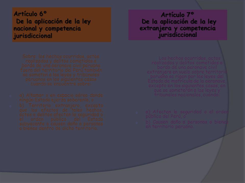 Artículo 6º De la aplicación de la ley nacional y competencia jurisdiccional Sobre los hechos ocurridos, actos realizados y delitos cometidos a bordo