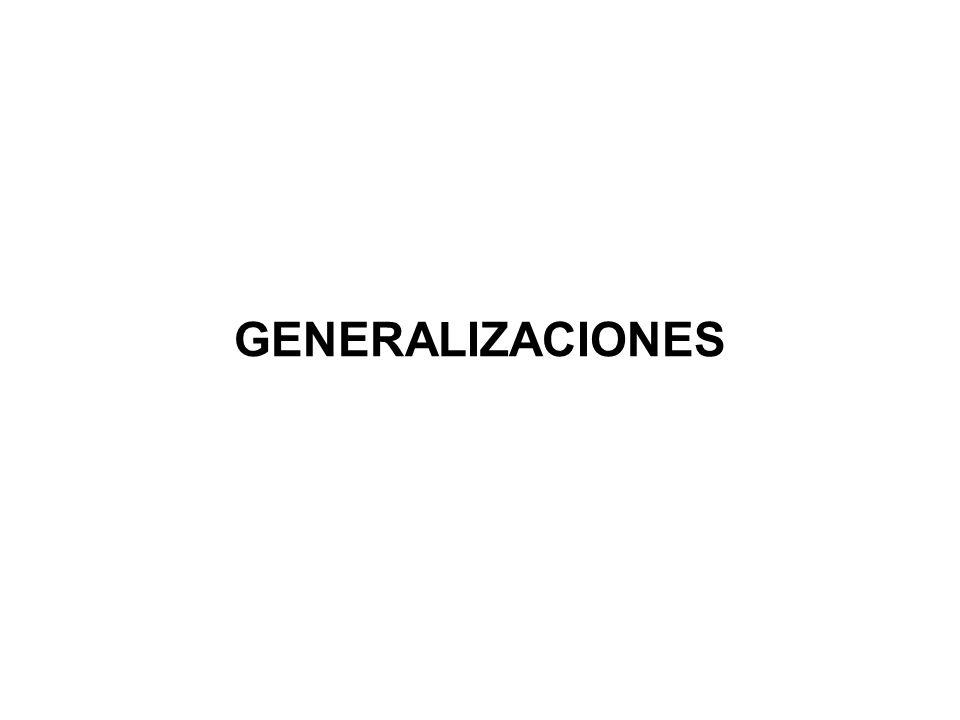 GENERALIZACIONES