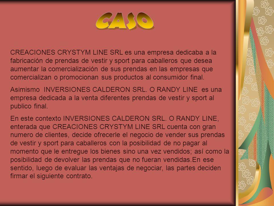 CREACIONES CRYSTYM LINE SRL es una empresa dedicaba a la fabricación de prendas de vestir y sport para caballeros que desea aumentar la comercializaci