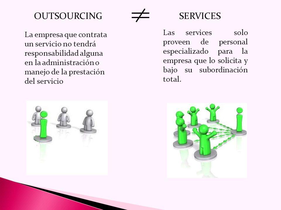 Objetivos Los principales objetivos que pueden lograrse con un servicio de outsourcing son los siguientes: Optimización y adecuación de los costos relacionados con la gestión, en función de las necesidades reales.