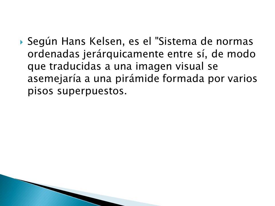 Según Hans Kelsen, es el