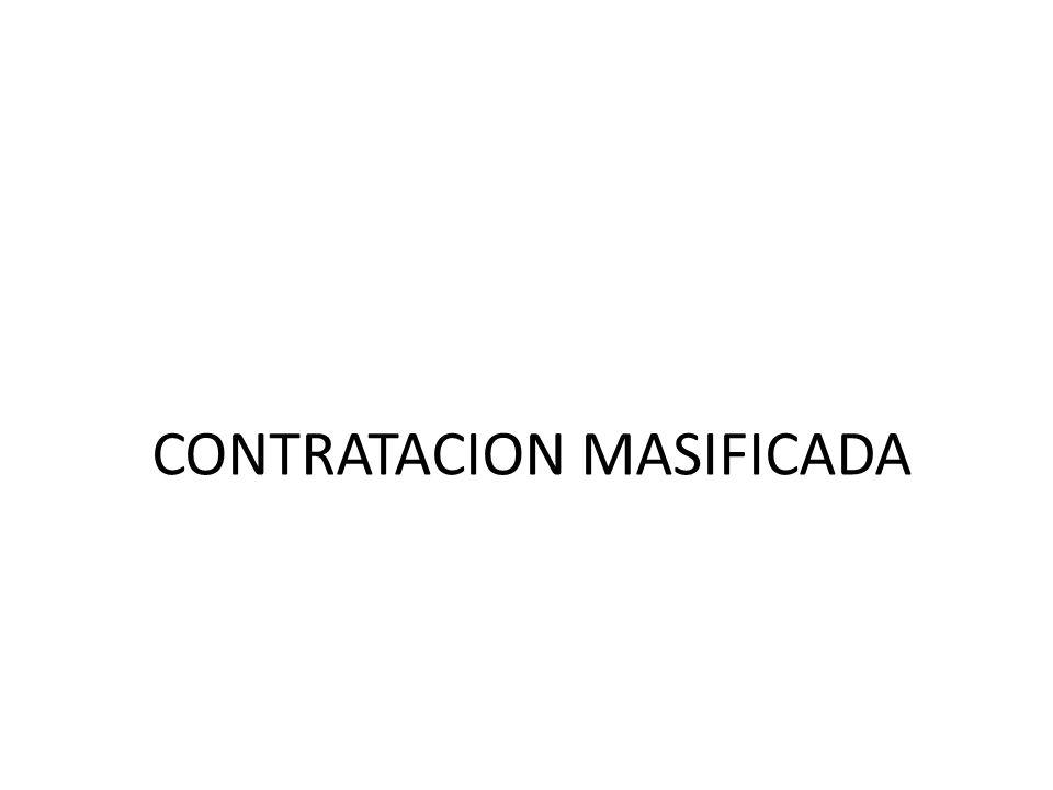 CONTRATACION MASIFICADA