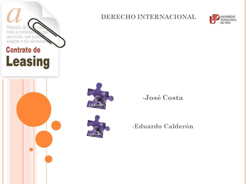 DERECHO INTERNACIONAL José Costa Eduardo Calderón