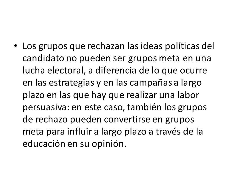 Los grupos meta son siempre grupos de personas con ciertas características claramente definidas: los llamados grupos meta sociales o también grupos meta por el estilo de vida.