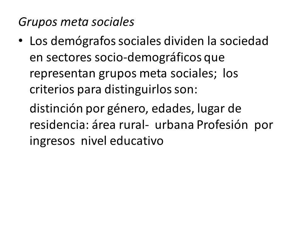 Es presumible que grupos meta claramente definidos tengan necesidades similares o idénticas o ciertas expectativas comunes con respecto al futuro o a la actuación de los políticos o de los gobiernos.