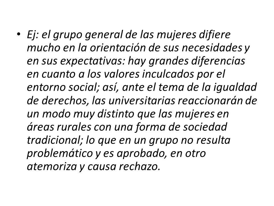 Grupos meta por el estilo de vida El concepto de los grupos meta por el estilo de vida soluciona el problema de los valores divergentes que aparece en los grandes grupos meta sociales.