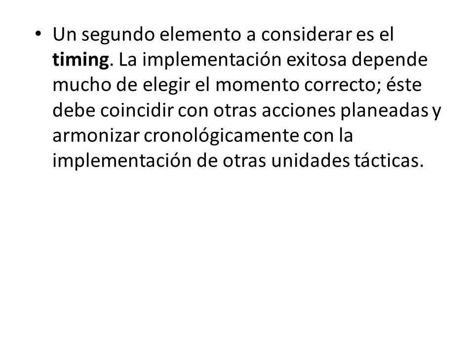 IX.-CONTROL DE ESTRATEGIAS El control de la estrategia consta de dos elementos, ambos decisivos para aplicar una estrategia con éxito.