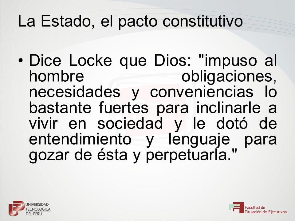 La Estado, el pacto constitutivo Dice Locke que Dios:
