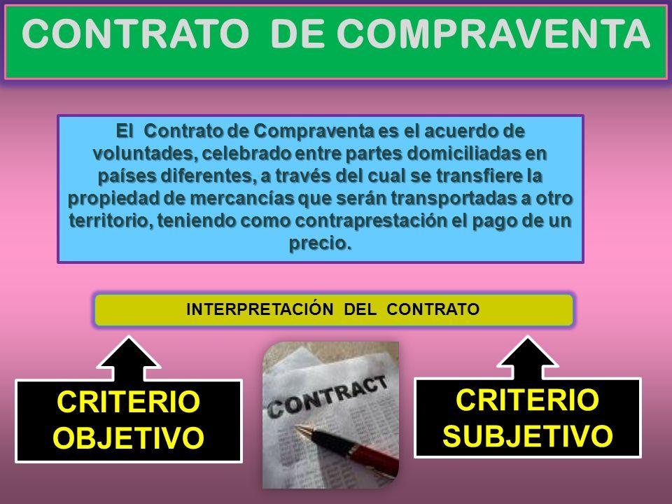CONTRATO DE COMPRAVENTA El Contrato de Compraventa es el acuerdo de voluntades, celebrado entre partes domiciliadas en países diferentes, a través del