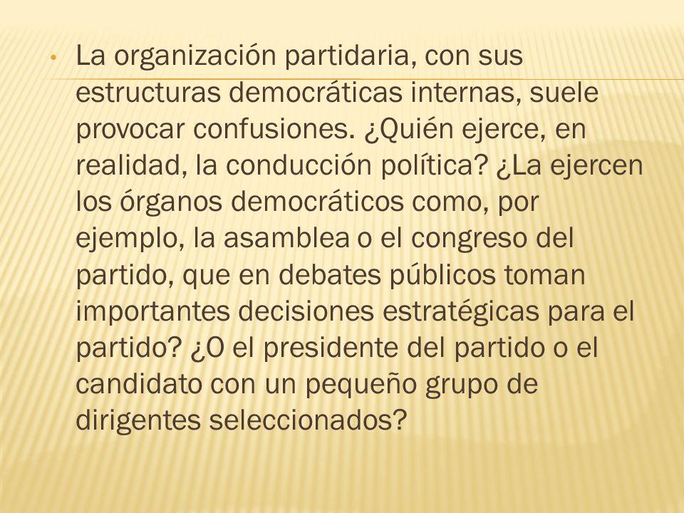 La organización partidaria, con sus estructuras democráticas internas, suele provocar confusiones. ¿Quién ejerce, en realidad, la conducción política?