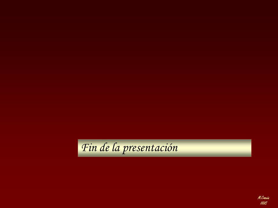 M.Cascón HUS Fin de la presentación