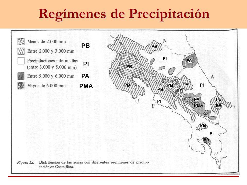 Regímenes de Precipitación PB PI PA PMA PA