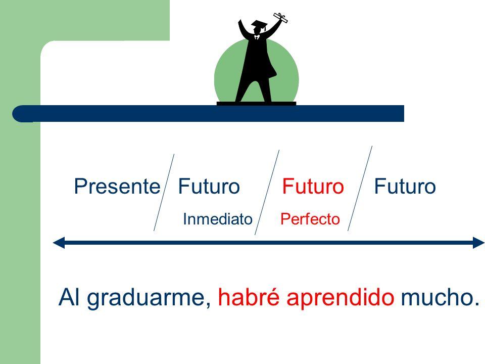El futuro de haber yohabrénosotroshabremos tútúhabrásvosotroshabréis él/ella/Ud.habráellos/ellas/ Uds. habrán
