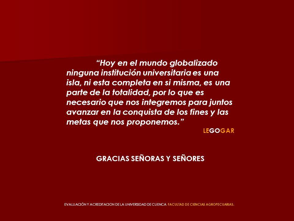 Hoy en el mundo globalizado ninguna institución universitaria es una isla, ni esta completa en si misma, es una parte de la totalidad, por lo que es n