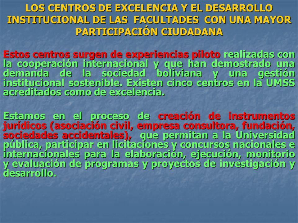 Estos centros surgen de experiencias piloto realizadas con la cooperación internacional y que han demostrado una demanda de la sociedad boliviana y un