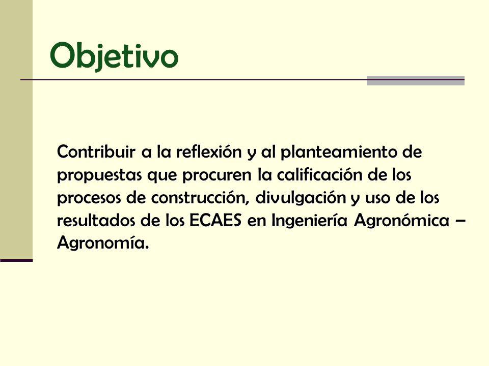 Contribuir a la reflexión y al planteamiento de propuestas que procuren la calificación de los procesos de construcción, divulgación y uso de los resu