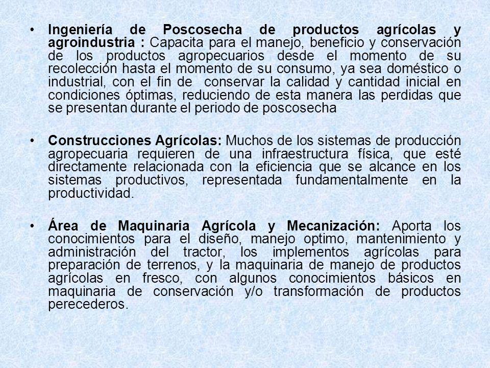 Ingeniería de Poscosecha de productos agrícolas y agroindustria : Capacita para el manejo, beneficio y conservación de los productos agropecuarios des