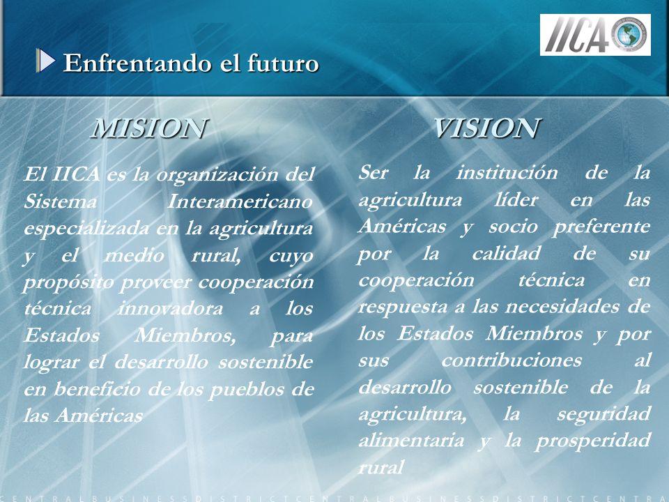 Enfrentando el futuro El IICA es la organización del Sistema Interamericano especializada en la agricultura y el medio rural, cuyo propósito proveer c
