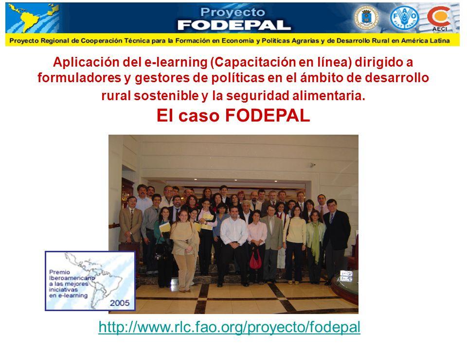 Aplicación del e-learning (Capacitación en línea) dirigido a formuladores y gestores de políticas en el ámbito de desarrollo rural sostenible y la seguridad alimentaria.