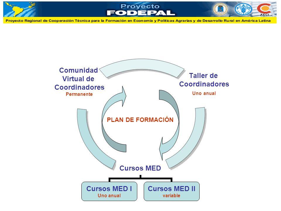 PLAN DE FORMACIÓN Cursos MED Cursos MED I Uno anual Cursos MED II variable